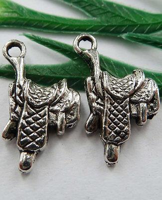 Wholesale Free Ship 150pcs tibet silver saddle Charms 22x12mm