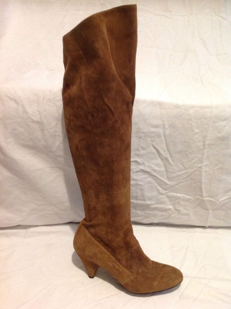 Julie Dee Brown Over Knee Suede Boots Size 38