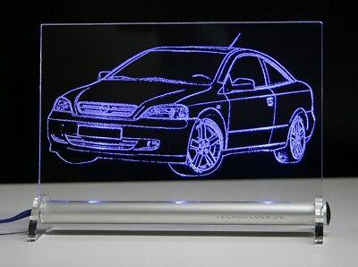 Autogravur auf Acrylglas LED Leuchtschild graviert ist  Ford Capri  BJ ab 1978