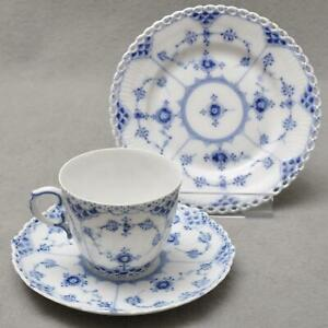 Royal-Copenhagen-Fluted-Full-Lace-3tlg-Coffee-Porcelain-1-Wahl-Cup-Dish