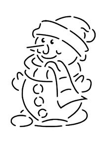 """Galería de símbolos /""""hombre de nieve 7..../"""" en a4"""
