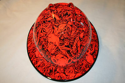 New Custom MSA V-Gard (Full Brim) Hard Hat W/Fas-Trac Ratchet UNDERWORLD ORANGE