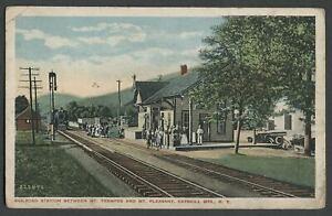 Mt-Tremper-Mt-Pleasant-Shandaken-NY-1910s-Postcard-RAILROAD-STATION-U-amp-D-R-R