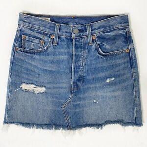 Levi's Premium Deconstructed Denim Skirt WOMEN'S 25