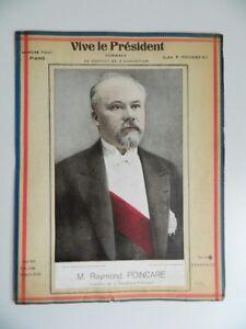 Vive Il President Spartito Tributo Raymond Poincaré Camminata Alex Rousseau 1925