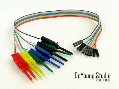10pin Test Clip Duppont tester Cable For Breadboard Arduino uno R3 Raspberry Pi