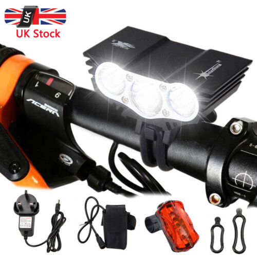 SolarStorm 15000LM X2 X3 LED Bike Bicycle Lights Set Front Headlamp Tail Light