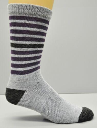 Merino Wool Blend Moisture Wicking Multiple Colors Stripe Women/'s Socks 9-11 2pr