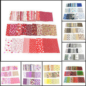 50PCS-DIY-Square-Quilting-Floral-Cotton-Patchwork-Cloth-For-Craft-Sewing-10x10cm