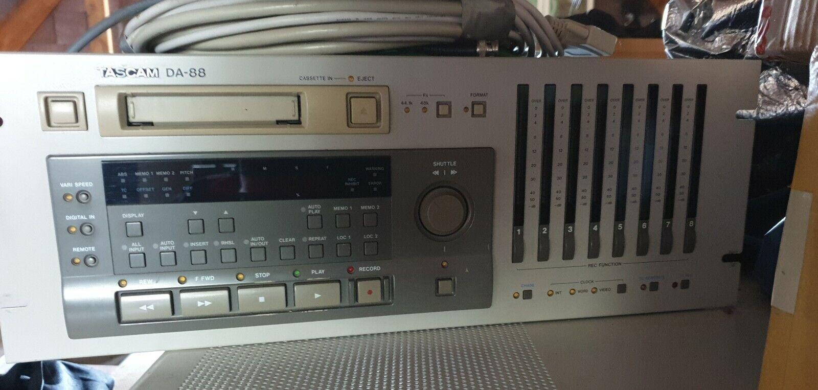 Tascam DA 88 Track Multi Track Recorder