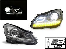 DEPO 12-14 MERCEDES W204 C CLASS C63 AMG STYLE PROJECTOR + R3 80W LED HEADLIGHT