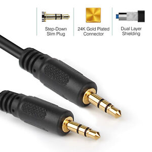 Lot AUX 3.5mm Stereo Audio Input Line-in Cable Male to Male Auxiliary Car Cord