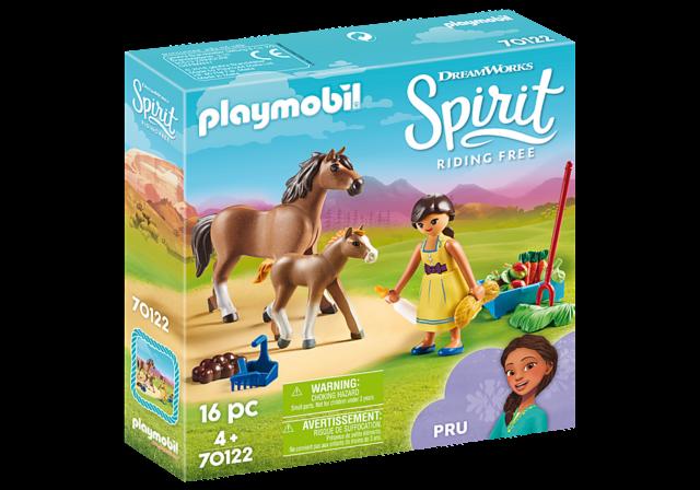 Playmobil DreamWorks Spirit 9479 PRU and Chicca Linda Horse Box Playset Multi