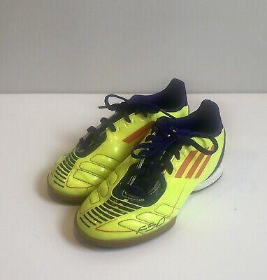 Adidas F50 adizero Sz 12 Youth Indoor soccer shoes Yellow | eBay