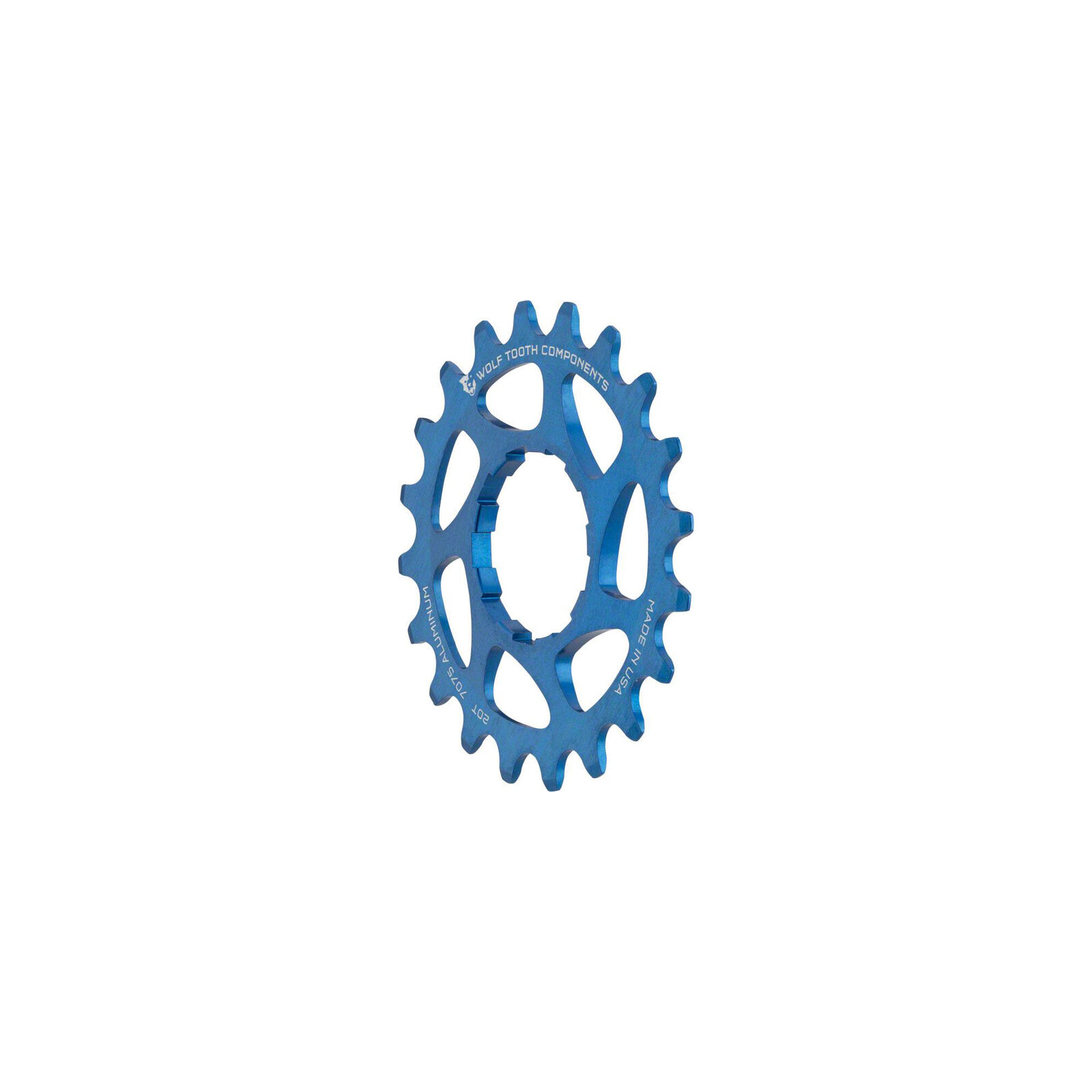 Wolf Tooth  Components Single Speed Bike 20t Cog 3 32  bluee  factory outlet