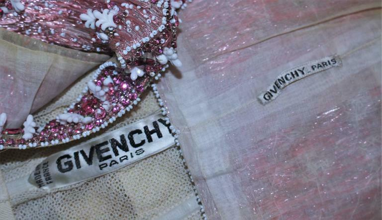 GIVENCHY COUTURE Circa 1960s Nude Gown w/ Beaded … - image 10