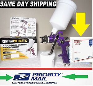HVLP-PAINT-GUN-1-4-TIP-6-cfm-BY-CENTRAL-PNEUMATIC-w-SAME-DAY-SHIP-3-DAY-DEL