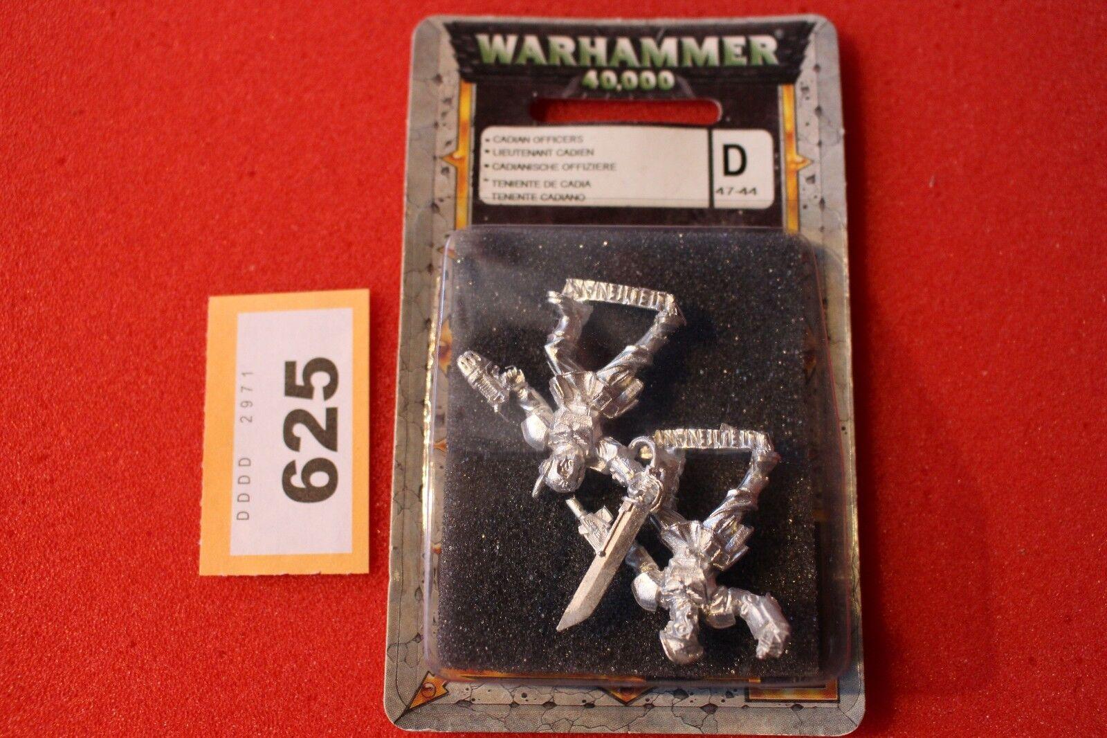 Games Workshop Warhammer 40k Cadian Lieutenants x2 Blister Mint Metal New OOP