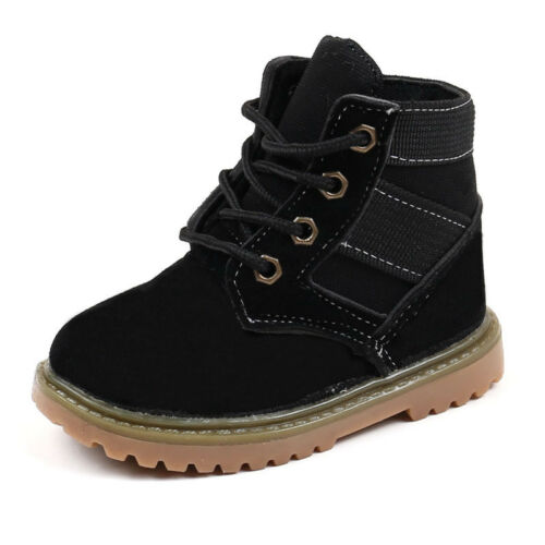 Fahsion Boys Girls Martin Ankle Boots Snow Anti-slip Shoes Causal Kids Sneakers