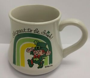 Vintage-1982-Wallace-Berrie-amp-Co-It-039-s-Great-To-Be-Irish-15-3040-Coffee-Mug