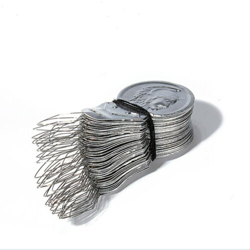 50pcs Silver Bow Wire Needle Threader Stitch Hand Machine Sewing Tool  YJ