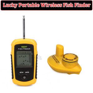 Lucky Portable 100m Wireless Fishfinder Alarm 40M/130FT Sonar Depth Ocean River