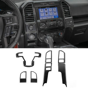 7pcs Full Interior Cover Trim Kit Accessories for Ford F150 2015+ Carbon Fiber