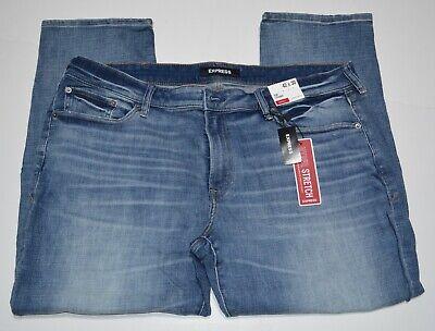 Express Slim Straight Medium Wash Hyper Stretch Jeans $88