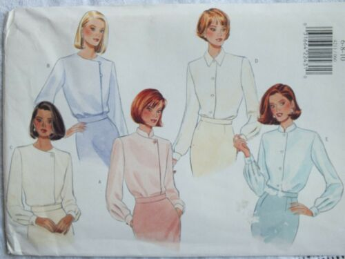 Lovely OOP BUTTERICK 4211 Misses Blouses~5 Variations PATTERN 6-8-10//12-14-16 UC