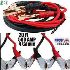 Heavy Duty 20 FT 4 Gauge Booster Cable Jumping Cables Power Jumper Starter Auto!