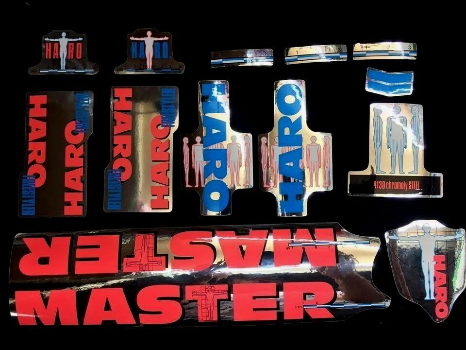DECAL STICKER Haro Master Freestyler Marco tija manillar BMX 1989 Bar