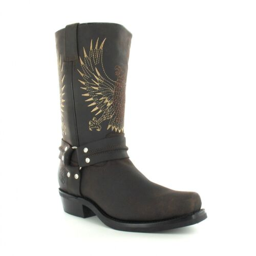Grinders brun Boots pour cuir en en Eagle cuir Bald 283 hommes fonc prvqcpwHgF