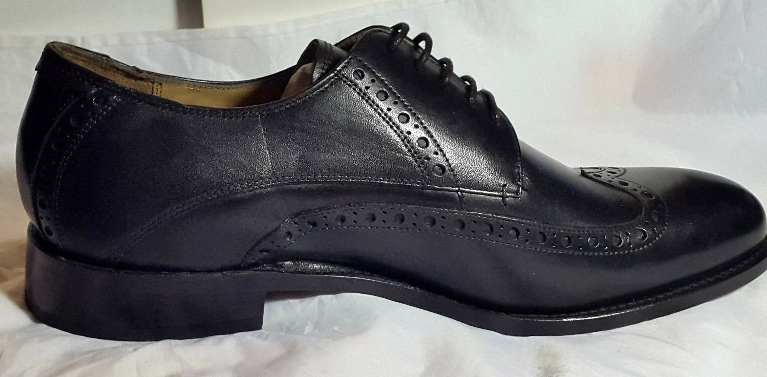 NEW Black Jeff Banks - Black NEW Leather 'Benjamin' Goodyear Welted Sole Derby Brogues - 9 70e7b3
