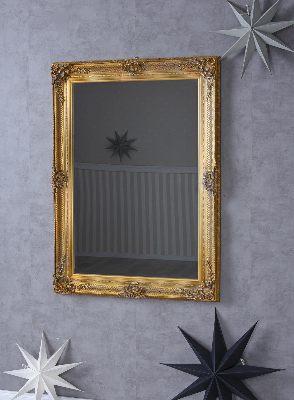 Espejo de Parojo Barroco oro Baño Antiguo Ornamental Vestidor
