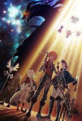Poster A3 Shingeki No Bahamut Genesis Favaro Kaisar Amira Sleeve Anime Poster 01