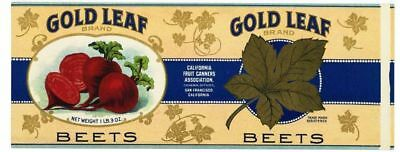 Labels Merchandise & Memorabilia Bright Gold Leaf Vintage Beets Can Label ***an Original 1910's Tin Can Label*** 280