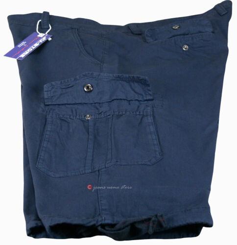 Bermuda cargo uomo Taglie forti pantaloni corti tasconi lacci 56 58 60 62 64 66