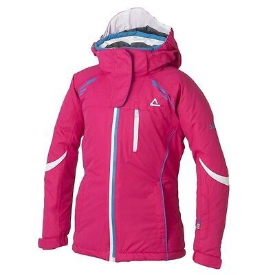 Girl/'s dare2b Ice Drop White Waterproof and Breathable Ski Wear /& Winter Jacket