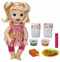 Baby Alive Super Snacks Snackin' Sara Blonde Girls Toys Birthday Playroom on sale