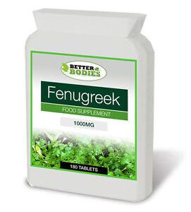 Fenugreek-1000mg-180-compresse-meglio-organismi-BOTTIGLIA-nessuno-CAPSULE-ad-alta-resistenza