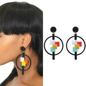 Fashion-Women-Geometric-Acrylic-Resin-Earring-Drop-Dangle-Stud-Earrings-NI-Nice