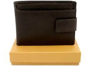 Mens-Superb-Quality-Leather-Tabbed-Wallet-by-Bloomsbury-Gift-Box-Brown