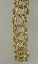 "STUNNING LADIES 14K YELLOW GOLD FANCY STYLE LINK BRACELET 7 5/8"", 14.0 GRAMS"