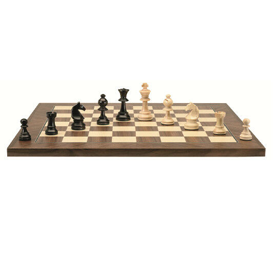 Chessboard inlaid boxes 40 mm + chess boxwood n°2 - Chavet MO0292