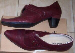 meilleur prix pour obtenir pas cher véritable Détails sur Chaussures ballerines Pédiconfort cuir femme bordeau taille  pointure 40