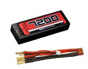 Absima-4150003-LiPo-Stick-Paquet-7-4-V-110C-7200mAh-etui-solide-Double-Tubes
