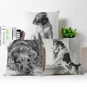 Dog-18-034-Vintage-Cotton-Linen-Pillow-Case-Sofa-Throw-Cushion-Cover-Home-Decor