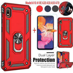 For-Samsung-Galaxy-A10e-A20-A30-A50-A10-A70-Case-Stand-Hard-Cover-Tempered-Glass