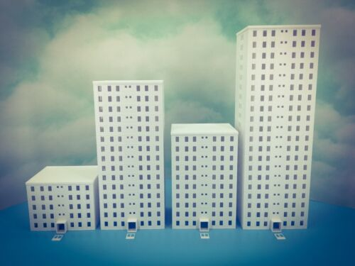 5 Floor OFFICE city LUXURY APARTMENT Building Z Scale 1:220 Fully Assembled