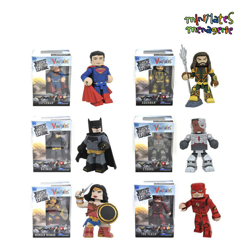 Vinimates DC Justice League Movie Set of 6 (Superman Batman Flash Aquaman More)